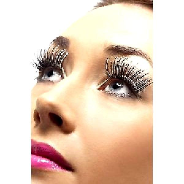 Holographic Eyelashes - Silver/Black - with Adhesive