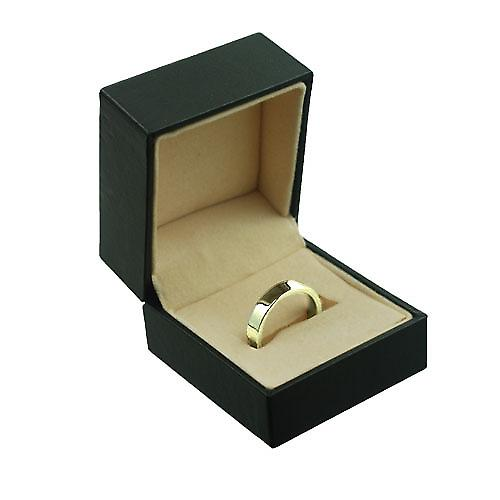 18ct Gold 4mm plain flat Court Wedding Ring Size P