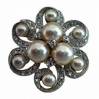 Perlen Brosche Pin für Bridal oder Brautjungfer Kleid Schmuck