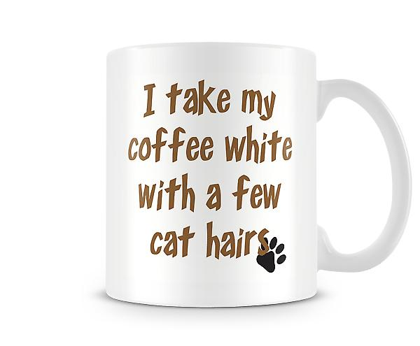 Coffee White Few Cat Hair Mug