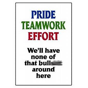 Pride teamwork effort... funny fridge magnet