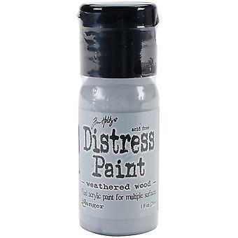 Distress Paint Flip Top 1oz-Weathered Wood