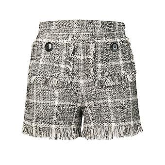 Elisabetta Franchi schwarze Baumwoll-Shorts