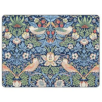 Pimpernel Morris & Co Strawberry Thief Placemats, Blue, Set of 6