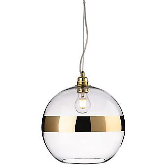 Firstlight-1 Light Ceiling Pendant Gold, Clear Glass-7639GO