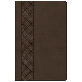 CSB Ultrathin Reference Bible - Value Edition - Brown Leathertouch by