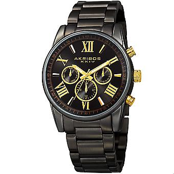 Akribos XXIV Men's Swiss Quartz Multifunction Bracelet Watch AK912BK