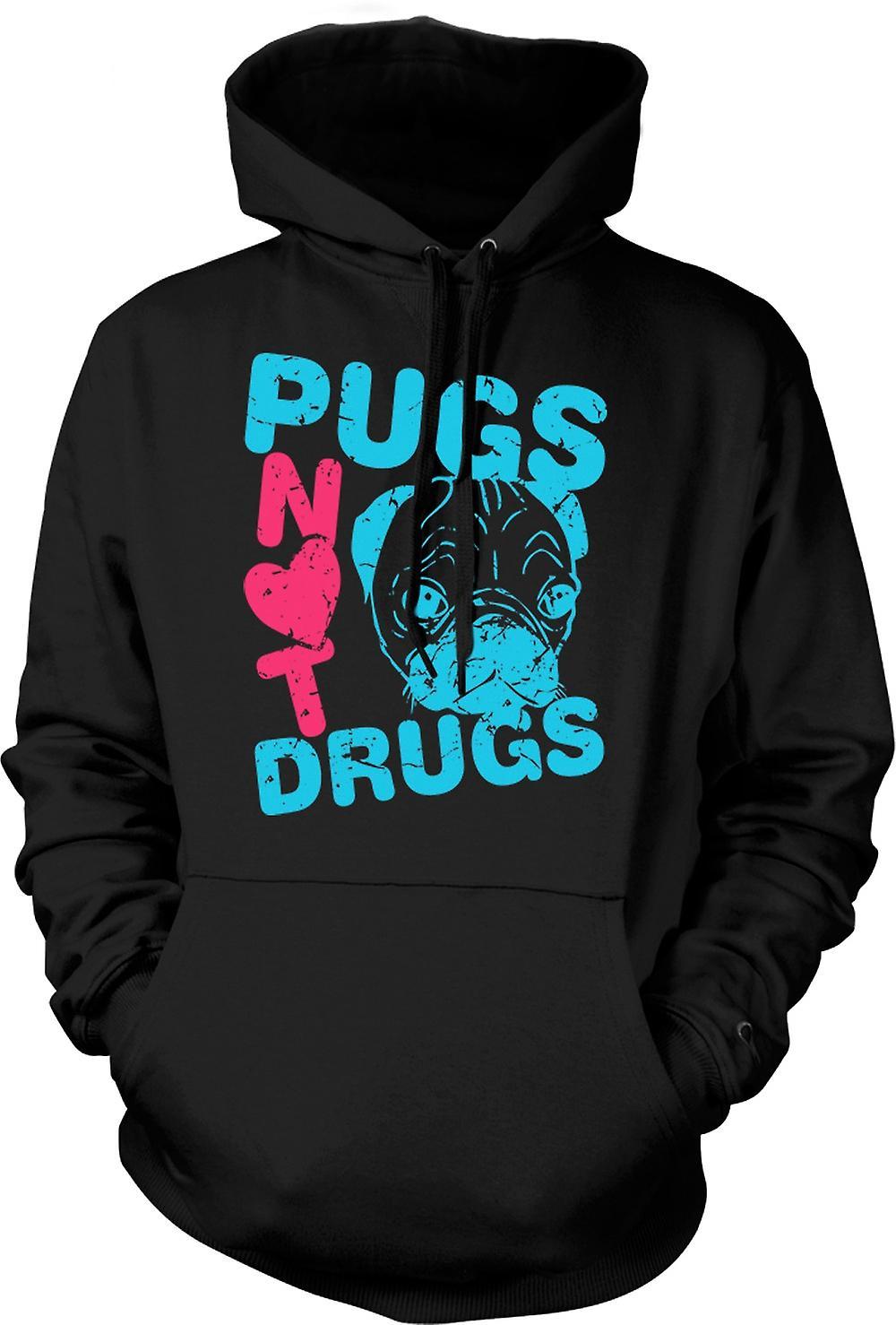 Mens Hoodie - Pugs ne médicaments pas drôle