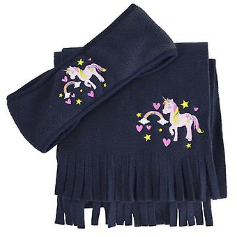Little Riders Girls Unicorn Headband and Scarf Set