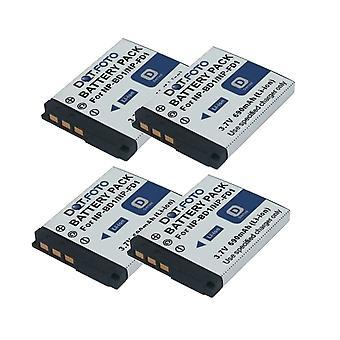4 x Dot.Foto Sony NP-BD1, NP-FD1 sostituzione della batteria - 3.7 v / 690mAh
