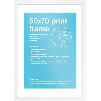 Eton weißen Rahmen 50x70cm Poster / Frame drucken