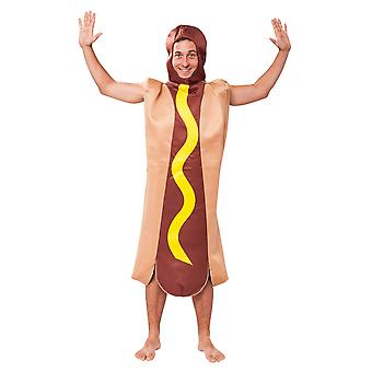 Bristol Novelty Unisex Adults Hot Dog Costume