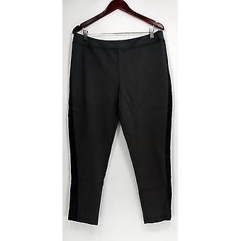 Joan Rivers Classics Collection Women's Petite Pants LP Ponte Knit Gray A258934