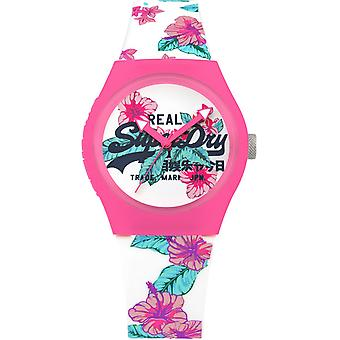 Superdry Urban Quartz Analog Woman Watch with Silicone Bracelet SYL160WP