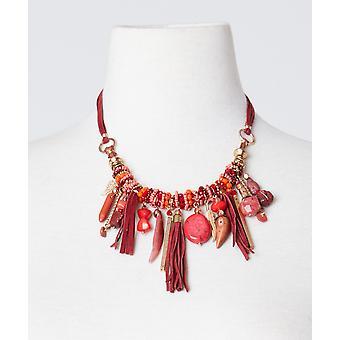 Joe Browns Womens natursten pärlstav tofs halsband