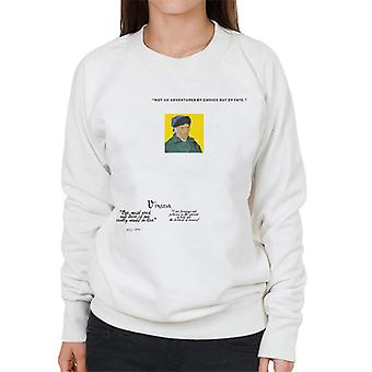 A.P.O.H Vincent van Gogh One Must Work And Dare Quote Women's Sweatshirt