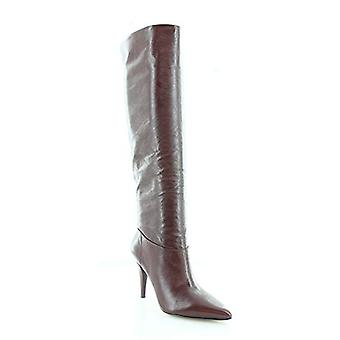 Michael Michael Kors Womens Rosalyn Leather Pointed Toe Knee-High Boots