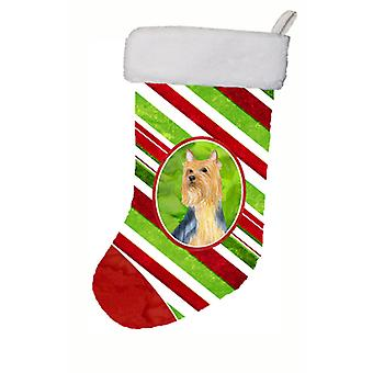 Silky Terrier Candy Cane Holiday Christmas Christmas Stocking LH9226