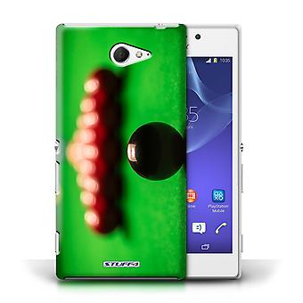 STUFF4 Case/Cover for Sony Xperia M2/Black Ball/Rack/Snooker