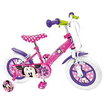 Stamp Minnie bicycle 12  With training wheels and brakes Nylon