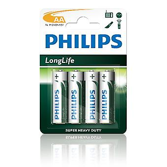 Batterie Philips Longlife R06 Aa 12 X Bls4