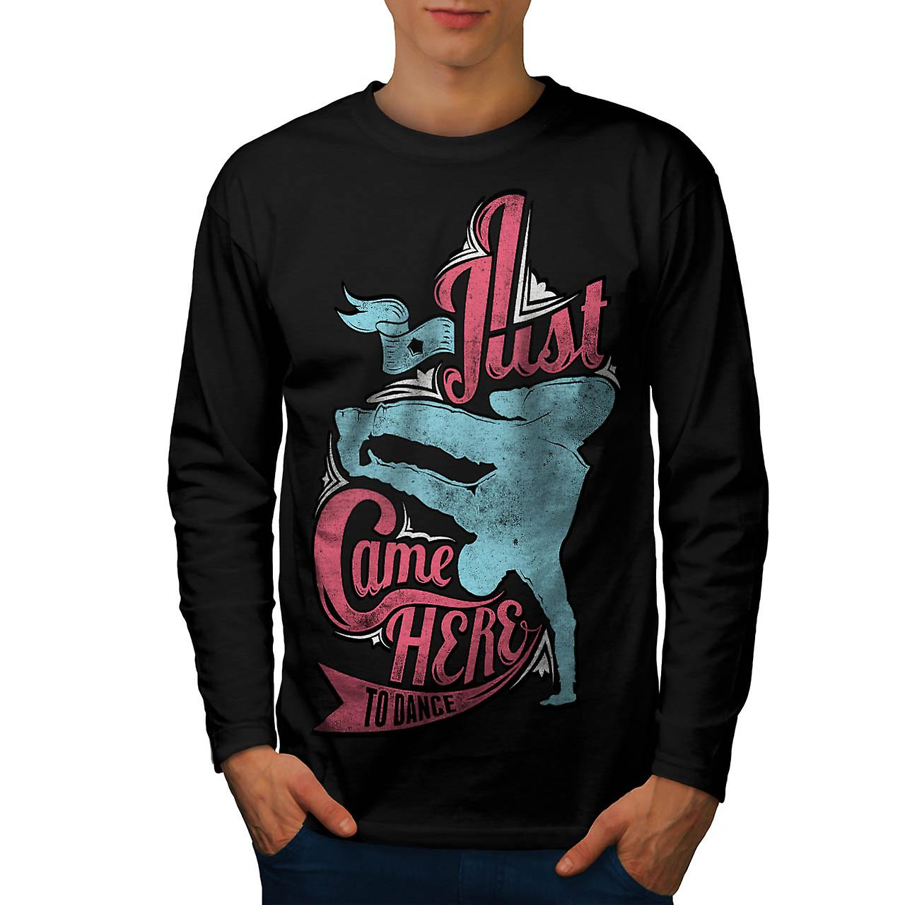 Party Here Dance Soul Break Move Men Black Long Sleeve T-shirt | Wellcoda