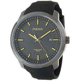 Pulsar Men's PS9101 Analog Display Japanese Quartz Black Watch