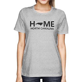 Hause NC State grau Damen T-Shirt US North Carolina Heimatstadt Tee