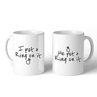 Ring On It Couple Mug Cute Engagement Gifts Matching Mug Sets