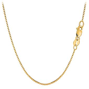 10k Yellow Gold Classic Mirror Box Chain Necklace, 1.0mm