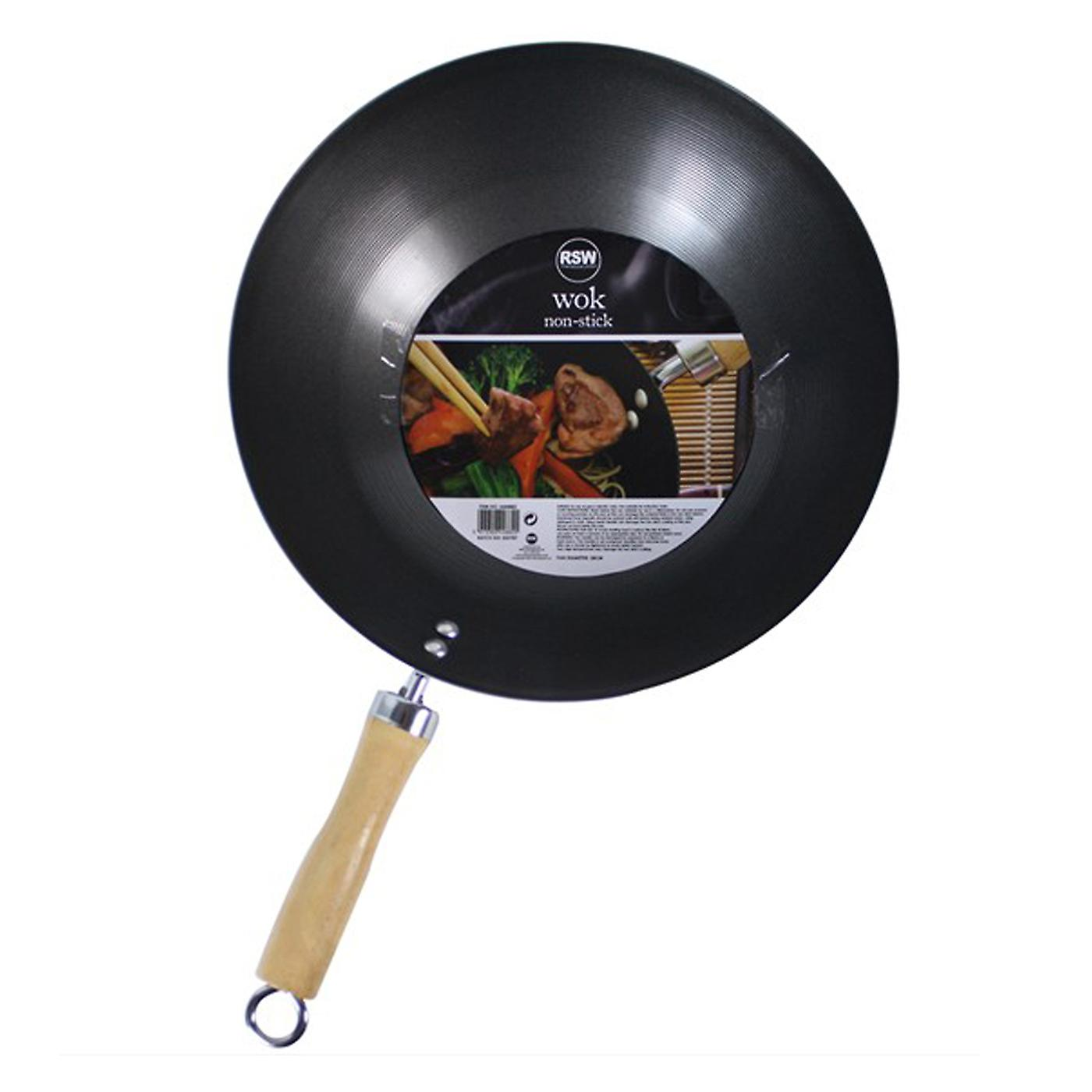 Non Stick Carbon Steel Wok 11
