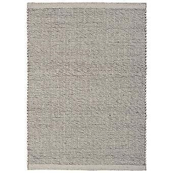 Light Grey Flatweave Viscose & Wool Rug - Corfu