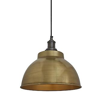 Brooklyn Vintage Metal Dome Pendant Light - Brass - 13
