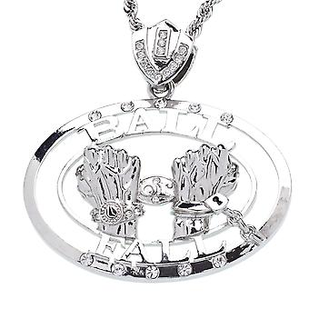 Iced out bling hiphop ketting - bal geval