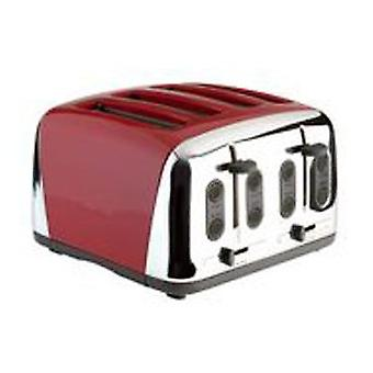 Prestige  Deco 4 Slice Toaster in Red