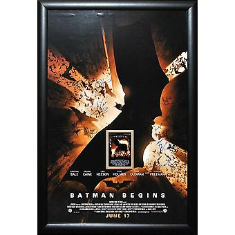Batman Begins - signerade filmaffisch