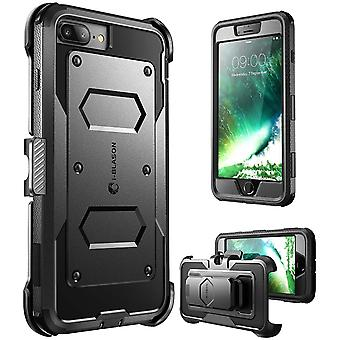 i-Blason-iPhone 7 Plus Case, [Armorbox]built in Bumper Case-Black