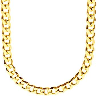 Sterling 925 Silver curb chain - CURB 7, 4 mm gold