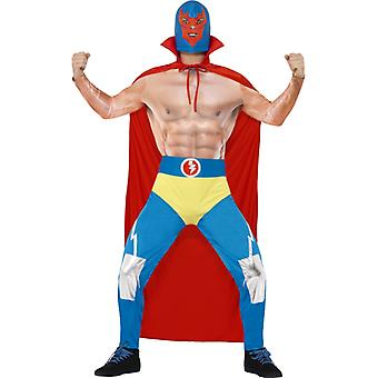 Mexican wrestler costume catcher wrestling men