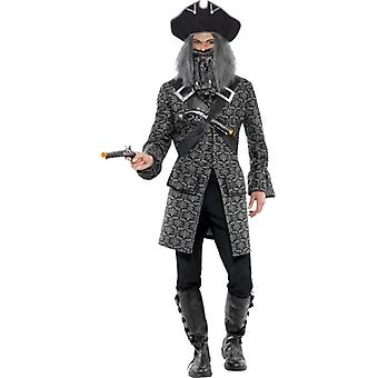 Pirate captain costume horror of the Caribbean seas uniform