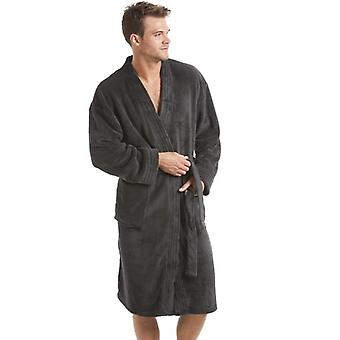 Camille Mens Grey Fleece Dressing Gown