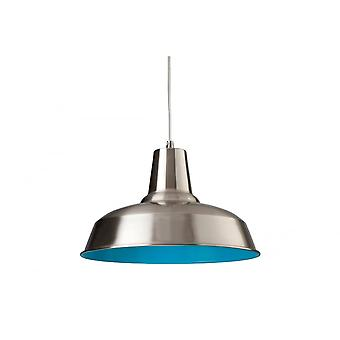 Firstlight Art Deco Modern Brushed Steel Ceiling Hanging Light Pendant