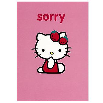 Hello Kitty Pink Sorry Greetings Card