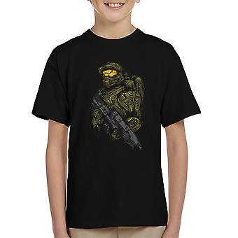 Master Chief di Halo t shirt bambino