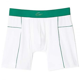 Lacoste Motion Micro Mesh Stretch Boxer Brief, White/Green, Large