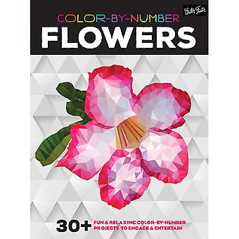 Walter Foster Creative Books-Color By Number - Flowers WFC-21994