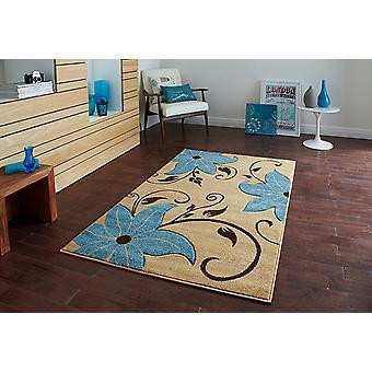 Verona OC15 Beige - blau Beige und Blau Rechteck Teppiche moderne Teppiche