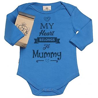 Spoilt Rotten Heart Belongs Mummy Organic Babygrow In Gift Milk Carton