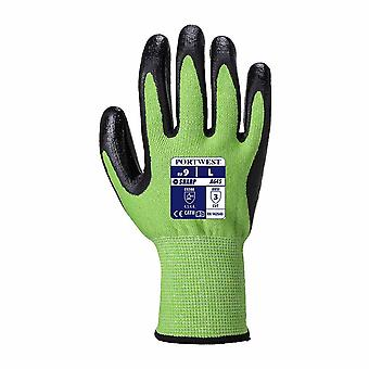 Portwest - 1 Pair Pack Green Cut Level 5 Resistant Hand Protection Glove