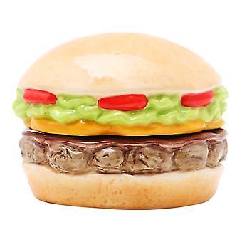 Stablede Cheeseburger i Paradise Burger magnetiske Salt og peber Shaker sæt